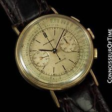 1950 MOVADO Vintage Mens Full Size Chronograph - 14K Gold - Doctor's Watch