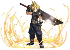 Cloud Strife from Puzzle & Dragons