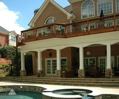 Pictures of elevated deck from Atlanta Decking and Fence Company.