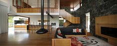 Image 21 of 47 from gallery of One Wybelenna / Shaun Lockyer Architects. Photograph by Scott Burrows Interior Architecture, Interior Design, House Names, Property Design, Rustic Elegance, Living Room Inspiration, Contemporary, Modern, Living Spaces