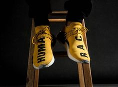 2017 Yellow Nmd Pharrell Human Race Nmd Runner White Black