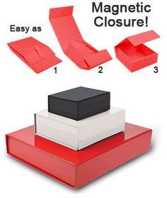 Premium Magnetic Gift Boxes - for the keepsake boxes? Clever Packaging, Pretty Packaging, Gift Packaging, Magnetic Gift Box, Gift Box Design, Unicorn Invitations, Sample Box, Photography Packaging, Keepsake Boxes