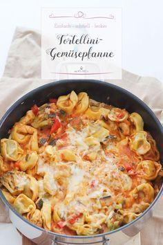 Ein schnell gemachtes Gericht ist diese leckere Tortellini-Gemüsepfanne. Im Handumdrehen ein tolles Mittagessen zaubern ist mit diesem Rezept kein Problem! #Onepot #Tortellini #Rezept