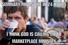 Seminary Finals Christian meme