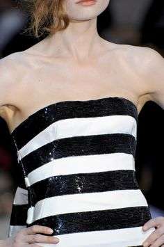 Black and white striped sequin dress, statement piece x