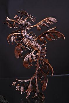 LEAFY SEA DRAGON bronze sculpture by Kirk McGuire.