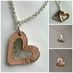 Today I made a double heart pendant, a single heart pendant and a butterfly pendant using copper and aluminium sheet. Washer Necklace, Pendant Necklace, Butterfly Pendant, Jewelry Supplies, Shop My, Workshop, Valentines, Necklaces, Aluminium Sheet