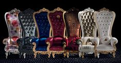 luxury armchairs designed by Caspani