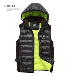 2015 High Quality Famous Brand Mens Hooded Cotton Vest Sports Vests Fashion Winter Warm Vests Coat Jacket M-3XL