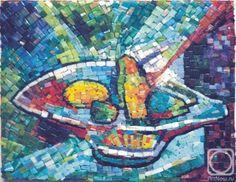 Mosaic. Ваза с фруктами