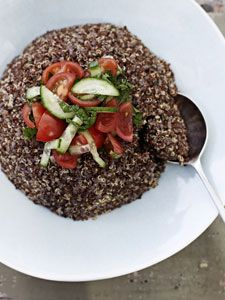 Annabel Langbein - Quinoa salad with tomato dressing in NZ Life and Leisure magazine.  To see more from Annabel please go to www.annabel-langbein.com
