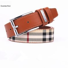 Men's Belts Cowather Cow Genuine Leather Belts High Quality For Men Automatic Vintage Male Belt Brand Ratchet Buckle Belts 110-130cm Long With The Most Up-To-Date Equipment And Techniques