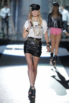 Spring 2013 Trend: Say the Word - Dsquared2 RTW Spring 2013