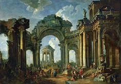 Giovanni Paolo Panini Sermon of the apostle amongst ancient ruins - The Largest Art reproductions Center In Our website. Low Wholesale Prices Great Pricing Quality Hand paintings for saleGiovanni Paolo Panini Ancient Egyptian Art, Ancient Ruins, Ancient Artifacts, Ancient Rome, Ancient Greece, Baroque, Arch Of Titus, European History, American History
