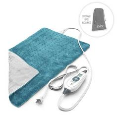 Pure Enrichment PureRelief XL King Size Heating Pad (Charcoal Gray) - Fast-Heating Machine-Washable Pad - 6 Temperature Settings, Moist Heat Therapy Option, Auto Shut-Off and Storage Bag - 12 x 24 Best Heating Pad, Heating Pads, Muscles In Your Back, Moist Heat, Rice Bags, Back Pain Relief, Turquoise, Bag Storage, Fitness