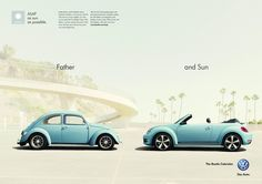 """VW Beetle Cabriolet """"Father and Sun"""""""