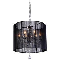 Found it at Wayfair - Clara 6 Light Crystal Chandelier in Black