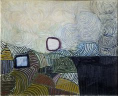 Victor Pasmore, Spiral Motif in Green, Violet, Blue and Gold: The Coast of the Inland Sea
