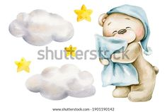 Urso Bear, Cute Girl Illustration, Cute Bear, Baby Painting, Baby Clip Art, Baby Elephant, Baby Cards, Girl Nursery, My Images