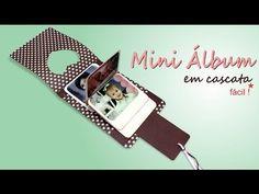 Mini Álbum em Cascata - YouTube - idea pagina