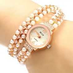 9.55$  Watch now - http://di8xt.justgood.pw/go.php?t=173040901 - IE-LY 629 Female Diamond Quartz Watch with Pearl Band Round Dial Stainless Steel Wristband 9.55$