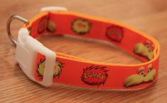 "The Lorax 1"" Dog Collar. $15.00. Find Bonzai Gifts on Facebook for more!"