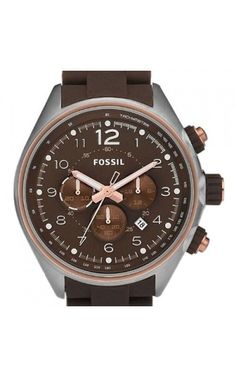 Fossil Men's Flight CH2727 Stainless Steel Chronograph Brown Dial Watch CH2727 in Jewellery & Watches, Watches, Wristwatches | eBay