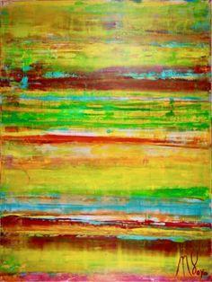 "Saatchi Art Artist Nestor Toro; Painting, ""Dimensional terrain-Golden Horizon"" #art"