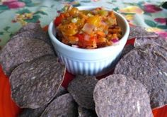 Rhubarb-Mandarin Salsa: Perhaps the best way ever to use rhubarb! Extra good for those of you who cannot eat tomatoes!