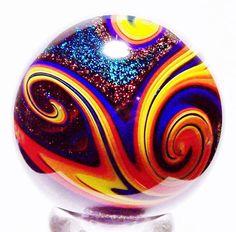 Black Lutz Tetrasphere by Eddie Seese https://www.facebook.com/groups/esagm/ Visit his Store on Ebay http://stores.ebay.com/EDDIE-SEESE-ART-GLASS-MARBLES?_rdc=1