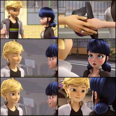 That moment that NO ONE SEEMS TO NOTICE! When Adrien winks at Marinette, so quick the viewer needs to do a double take. Careful Adrien your Cat Noir is showing . Then he deliberately PLACES his hand on hers to grab the derby hat.We all know he has feelings for Ladybug, but I think he has a little, little, but very little crush for Marinette, who agrees??