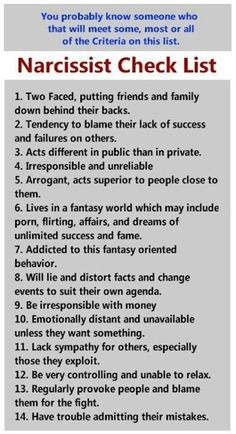 how to know if someone has narcissistic personality disorder