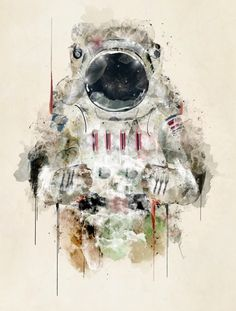 the astronaut Art Print