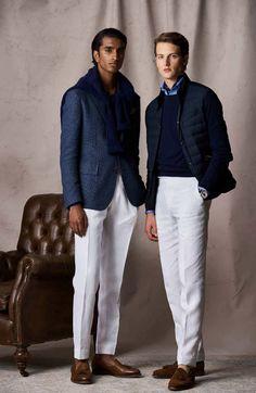 Preppy Men, Preppy Style, My Style, White Chinos, White Pants, Blazer Fashion, Mens Fashion, Stylish Mens Outfits, Business Casual Men
