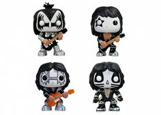 Collectible Funko Pop Rock n roll characters from classic rock greats like Elvis Presley or Jimi Hendrix, to Bob Marley reggae rockers, KISS, Punk music rockers the Sex Pistols and even Vocaloids. Funko Pop Dolls, Funko Toys, Funko Pop Figures, Pop Vinyl Figures, Elmo, Banda Kiss, Marvel, Pop Action Figures, Funk Pop