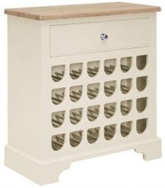 A beautiful piece of furniture, this wine rack will look stunning in any dining room. Hand painted in your choice of colour, it holds up to 24 bottles of wine and has a handy drawer and solid oak top for storing that all-important drink-making paraphernalia. Find more storage ideas at housebeautiful.co.uk