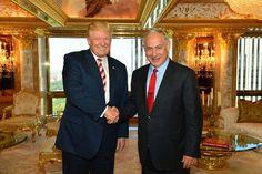 Donald Trump with Israeli Prime Minister Benjamin Netanyahu in New York, September 25, 2016.