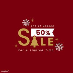 Christmas special sale 50% off vector | free image by rawpixel.com Minimalist Graphic Design, Graphic Design Posters, Email Marketing Design, Email Design, Web Banner Design, Flyer Design, Christmas Newsletter, Small Business Quotes, Business Poster