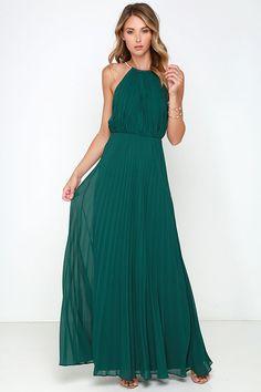 Bariano Melissa Dark Green Maxi Dress at Lulus.com!