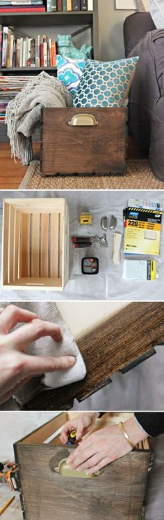 Be Creative: DIY Home Decor Ideas DIY Décor: How To Customize A Wooden Storage…