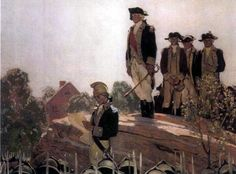 Washington addresses the Continental Army