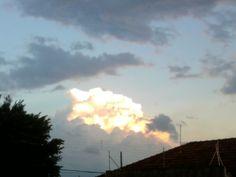 O Sol e a nuvem!