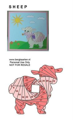 Iris Fold-Sheep-Great for Baby Card