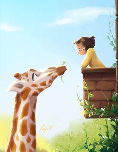 Spring Art, Cartoon Art Styles, Anime Scenery, Cute Drawings, Cute Art, Art Girl, Fantasy Art, Anime Art, Illustration Art