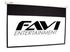 FAVI PD-HD-120 16:9/120-Inch Pull Down Manual Projector Screen by FAVI Entertainment. $129.00. From the Manufacturer                  FAVI's 120-inch manual pull down projector screen is the perfect solution for home theater, business or classroom use. Slide-lock technology allows you to easily adjust the screen height & aspect ratio. End cap bracket allows for flush wall mount installation.  Also included are steel mounting rings integrated into the end cap to create the...