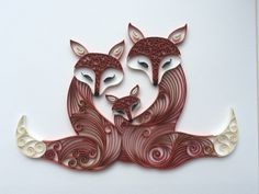 Quilling Family Fox