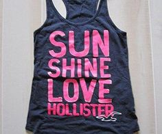 (1) Hollister by Abercrombie Navy and Bright Pink Big Logo Oversize Top Tank Shirt S on Wanelo