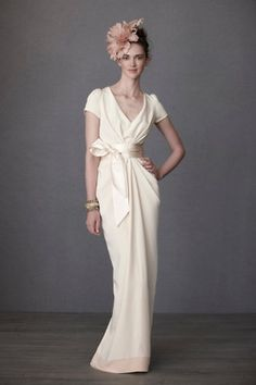 Simple and chic wedding dress by BHLDN