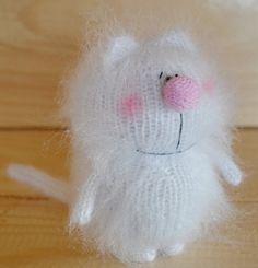 SIMON'S CAT  AMIGURUMI Cat Kitty  Knit Mohair by MiracleStoreUS