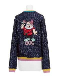 A New Snow White and the Seven Dwarfs Collection from Mary Katrantzou Is Now Available At Colette Snow White Seven Dwarfs, Mary Katrantzou, The Seven, Disney Merchandise, Disney Style, Christmas Sweaters, Graphic Sweatshirt, Brand New, Sweatshirts